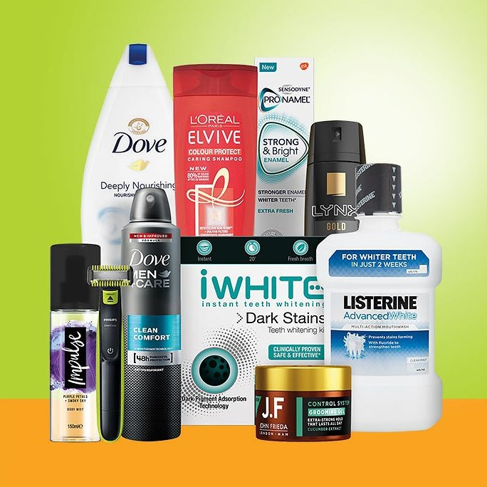 Save up to 1/2 price on selected toiletries